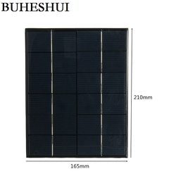 BUHESHUI 5.2 W 6 V ogniwo słoneczne polikrystaliczny panel słoneczny moduł słoneczny DIY ładowarka słoneczna System do 3.7 V 210*165 MM wysokiej jakości
