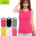 Women O-Neck Sexy Summer Bodycon Large Elastic Camisoles Lady Sleeveless T-Shirts Female Tank Tops Vests Patchwork Lace