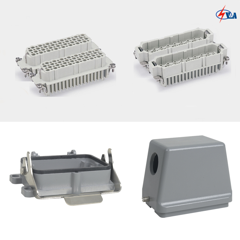 HD-128 10a 128 pins Power heavy duty connectors heavy duty connectors rectangular connectors runner connector air plugs hd 040 surface mounted with cover