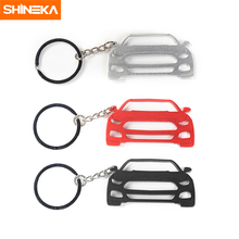 SHINEKA Newest Design Exquisite Car Key Chains Key Ring Key Finder Aluminium Alloy  for Ford Mustang Fashion Car Styling personalized custom unique car key chains lanyards key ring key finder feather keychains leather tassel