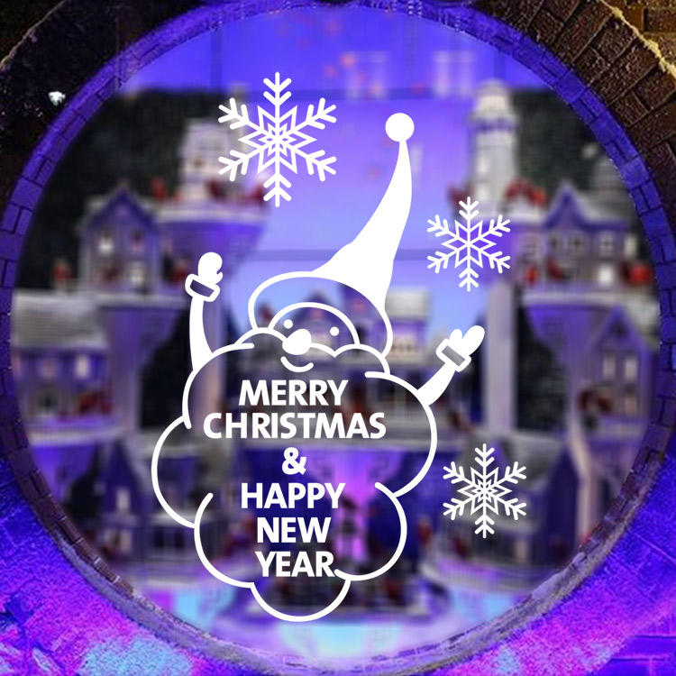 m 20 2016 cute snowman snowflake christmas showcase window glass sticker xmas christmas party decoration - Party Decoration Stores