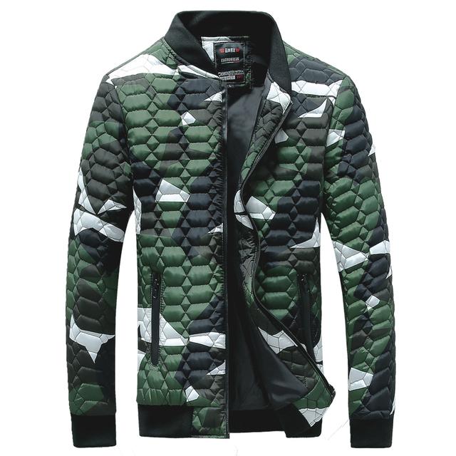 2017 nova jaqueta de inverno dos homens acolchoado de poliéster casaco casuais outwear sobretudo 3 cores M-4XL AYG150