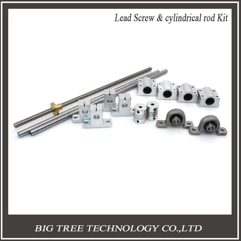 Prix pour L300mm 330mm 400mm 500mm D8mm 8mm Horizontal À Double Voie Plomb Vis Couplage Roulement et Linéaire Arbre Axe optique Portant Ensemble