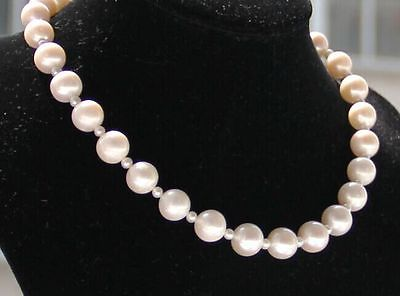 18inch 8-9MM NATURAL SOUTH SEA WHITE PEARL NECKLACE18inch 8-9MM NATURAL SOUTH SEA WHITE PEARL NECKLACE