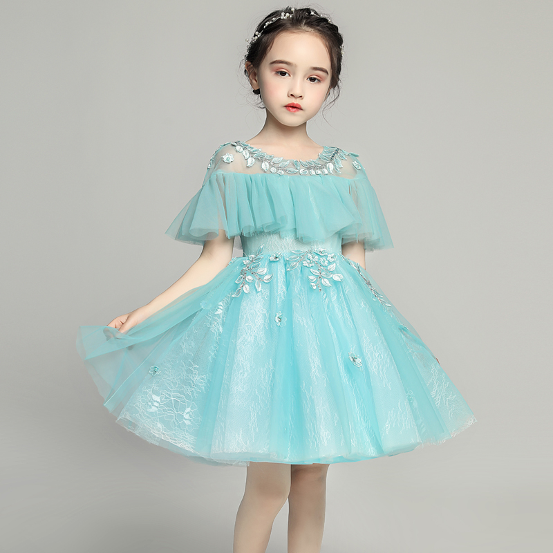 Luxury Holy Communion Dress Leaves Floral Kids Pageant Dress for Birthday Costume Tulle Tassel Ball Gown