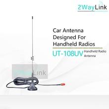 Walkie talkie com antena baofeng banda dupla, antena UT 108UV SMA F UV 9R para rádio cb portátil baofeng UV 5R UV 5RE BF 888S uv5re uv82