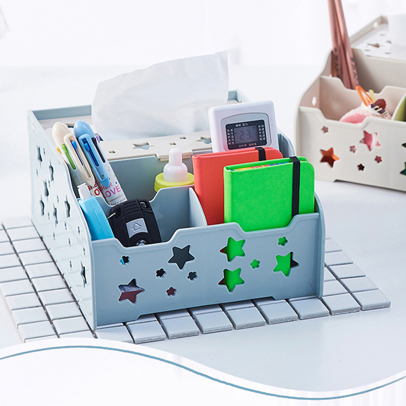 050 Multi function Star hollowed multifunctional desktop box remote control box 19 5 24 11cm in Home Office Storage from Home Garden