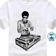 2017 New Arrivals Men's Creative Dj Bruce Lee 3D Print Men's 100% Cotton Short Sleeve Tee Summer Popular T Shirts