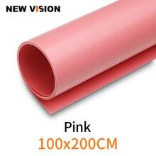 """100 cm * 200 cm 39 """"* 79"""" Roze Naadloze waterdicht PVC Achtergrond Achtergrond Papier voor foto Video Fotografie Studio"""
