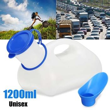 1200 ML Unisex przenośne moczu pisuar toaleta pomocy butelka do podróży Camping zewnątrz + kobiece Adapter tanie i dobre opinie Xueqin Other Czujnik pisuar Grawitacja flushing