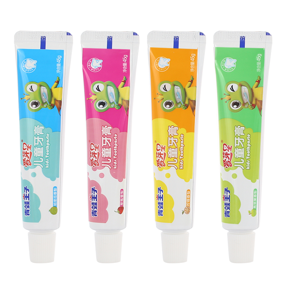 Baby Toothpaste Kids Toothpaste Infants Toothpaste Care Paste Tooth Decay Non-Toxic Toothbrushes Cute 3 Flavors Gifts Useful