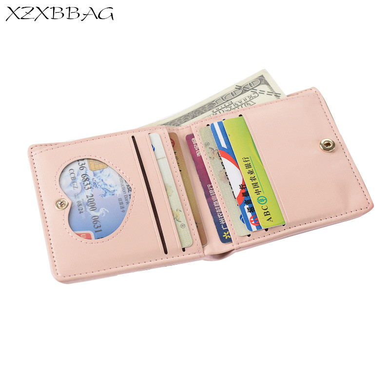 XZXBBAG Fashion PU Leather Women Cute Animals Short Wallet 2017 New Design Female Simple Folding Purse Card Holder Girl Clutch