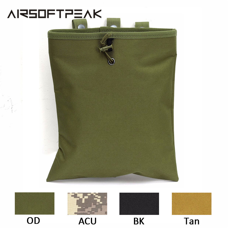 Tactical CQC AR15 Molle System Dump Magazine Pouch Nylon Outdoor Hunting Recovery Bag Military Drop Pouch War Accessoies Case(China)