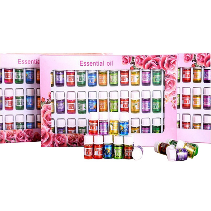 36Pcs/Set Skin care Aromatherapy Essential Oil 12 Kind 3ML Fragrance Aromatherapy Oil Natural Spa Oil Pack