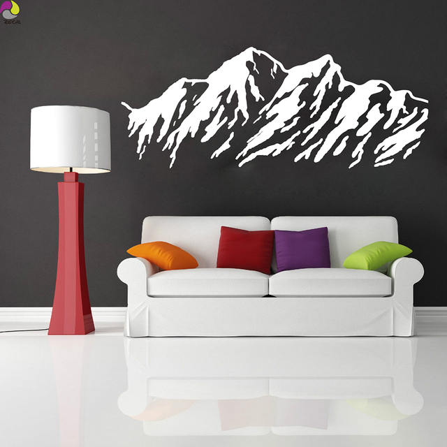 mountain range wall sticker bedroom baby nursery hill mountain ridge