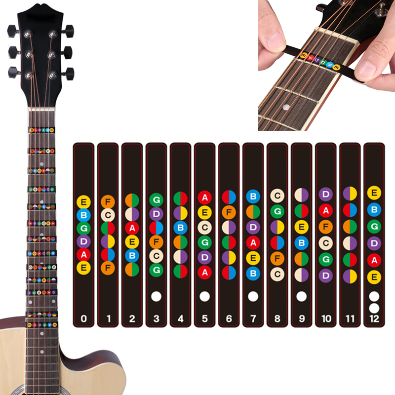 Guitar Fretboard Stickers Note-Labels Water-Resistant 2-Colors Universal Optional