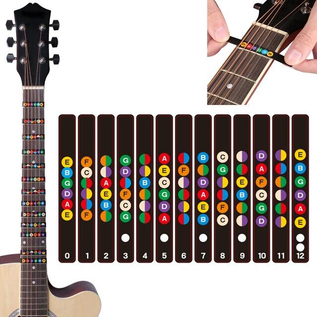 Универсальный водостойкий гитарный гриф примечание этикетки зажим для грифа наклейки 2 цвета дополнительно
