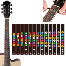 Universal Water Resistant Guitar Fretboard Note Labels Fingerboard Fret Stickers 2 Colors Optional