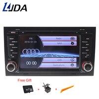 LJDA 2 din gps навигации для Audi A4 S4 RS4 2002 2003 2004 2005 2006 2007 2008 dvd плеер автомобиля мультимедиа Bluetooth Авто Радио