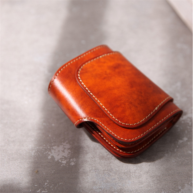 13684ab15e26 US $52.1 41% OFF|ALAVCHNV 2017 new retro handmade leather cowhide wallet  men short section plant tannery Japanese cloth cloth BR5086-in Wallets from  ...