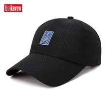 UNIKEVOW Solid quick-dry baseball cap For Men And Women High quality golf sports Leisure Hats Hip Hop Mesh baseball cap [aetrends] 2017 new summer baseball cap men quick dry mesh baseball hats for man z 5231