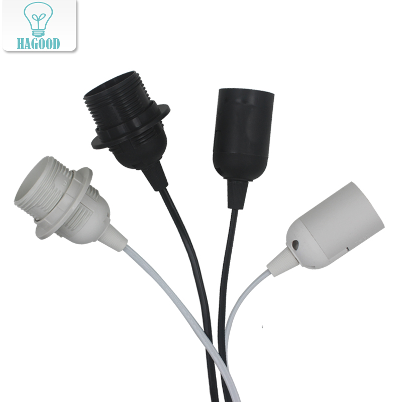 1.8M Power Cord E27 Hanging Bulb Lamp Holder EU Plug Wire With 303 Button Switch For LED DIY Light