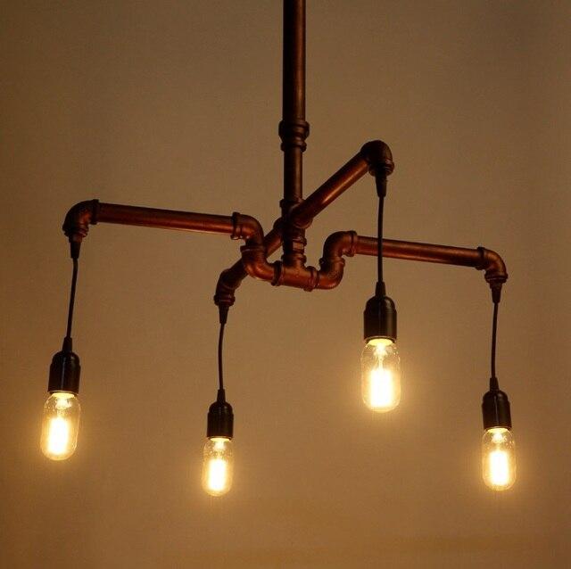 4 bulb light fixture light fluorescent home depot vintage industrial steampunk bulb pipe chandelier indoors light e27 restoration lighting fixture new arrival