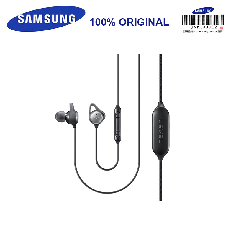 Samsung Level In ANC Mobile Phone In-Ear Earphone In a Black and White Wheat S8/7+ Wire with Active Noise Reduction