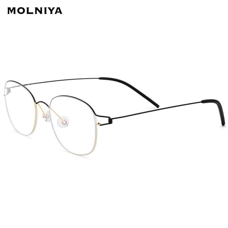 2019 New Titanium Alloy Optical Glasses Frame Men Prescription Eyeglasses Korean Denmark Women Myopia Screwless Eyewear