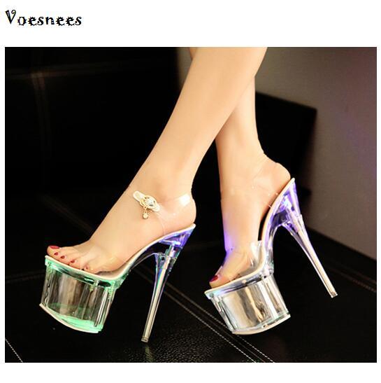 Chaussures fluorescence Étanche Modèle forme Fluorescence Talons Femmes Sandales Afficher Acier Hauts 5 Mince En Beige Plate De 17 Ultra Cm Tuyaux kOXiuPTZ