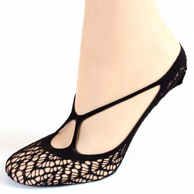 Women Sock Female Invisible Socket Designers Shallow Mouth Summer Thin Lace Socks Ankle Heal Short Sock Openwork