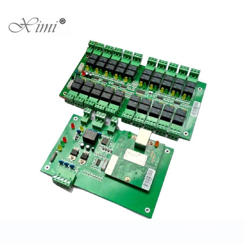 Good Quality TCP/IP 20 Floors Biometric Fingerprint And RFID Elevator Access Control Board Lift Controller System цены