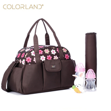 COLORLAND Diaper Bag Organizer Fashion Maternity Mummy Handbag Baby Care Bag Large Mother Shoulder Messenger Changing Nappy Bags