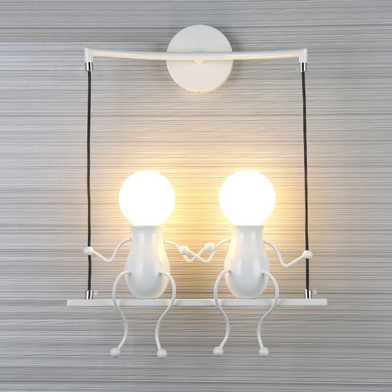 Children's Wall Lamp Iron Art Wall Sconce Modern Living Room Bedroom Bedside Lamp led Bathroom Mirror Light Aisle led Wall Light led k9 crystal wall sconce lamp led wall light bedroom living room bedside lamp hotel sconce led mirror light bathroom lamps