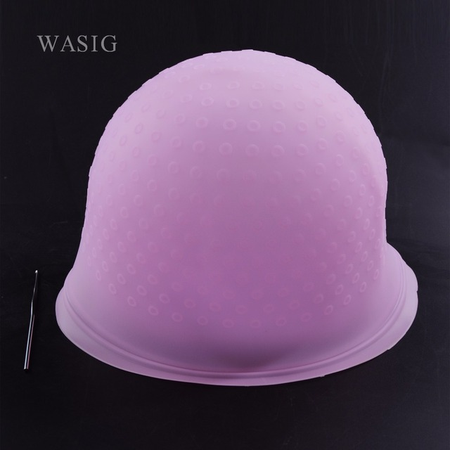 1 adet Pro Salon Boya silikon kapak Saç Rengi Boyama Vurgulama Yeniden Kullanılabilir Kapaklar Şapka Buzlanma Devrilme Boyama Renk Şekillendirici Araçları