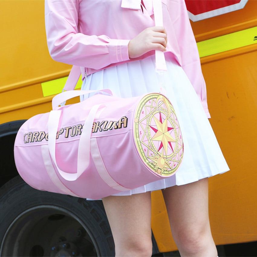 Japan Card Captor Sakura Handbag Women Cardcaptor Sakura Tote Luggage Bag Tarot Bags Girls Shoulder Bag Big Capacity Travel Bag