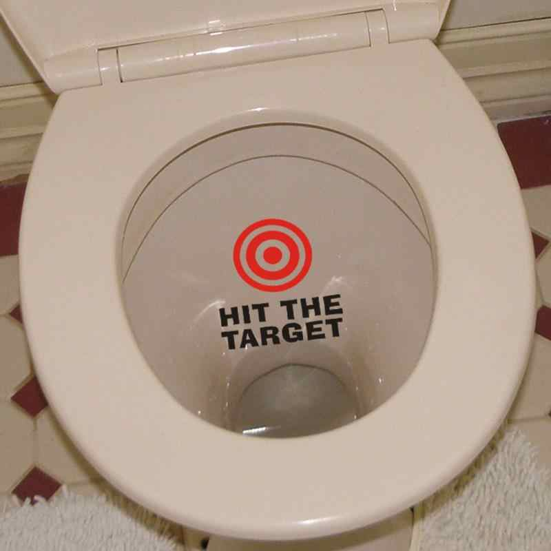 Hit The Target Toilet Stickers For WC Washroom Decoration Vinyl Wall Art Diy Home Decals
