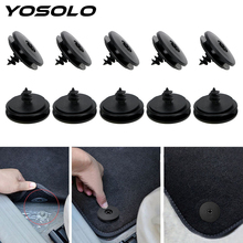 YOSOLO 10 parça/takım oto raptiye Antiskid ped raptiye plastik kaymaz halı sabit kelepçe araba raptiye klipleri