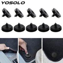 YOSOLO 10 teil/satz Auto Verschluss Gleitschutz Pad Verschluss Kunststoff Rutschfeste Teppich Feste Klemme Auto Fastener Clips