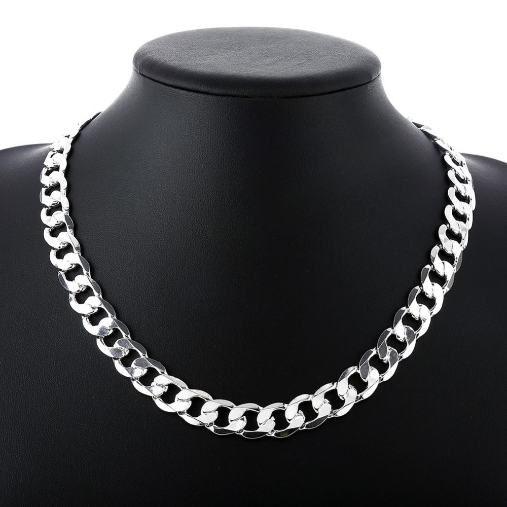 100pcs fashion men necklace 8mm links chain factory price silver 100pcs fashion men necklace 8mm links chain factory price silver mens jewelry 925 silver chain 22inches long necklace for men in chain necklaces from aloadofball Image collections