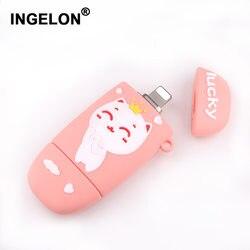 Ingelon 3 w 1 USB flash 32gb brelok USB 64gb Cle USB flash 128gb 3.0 ślub prezenty dla gości Pendrive dla iphone jazdy samochodem