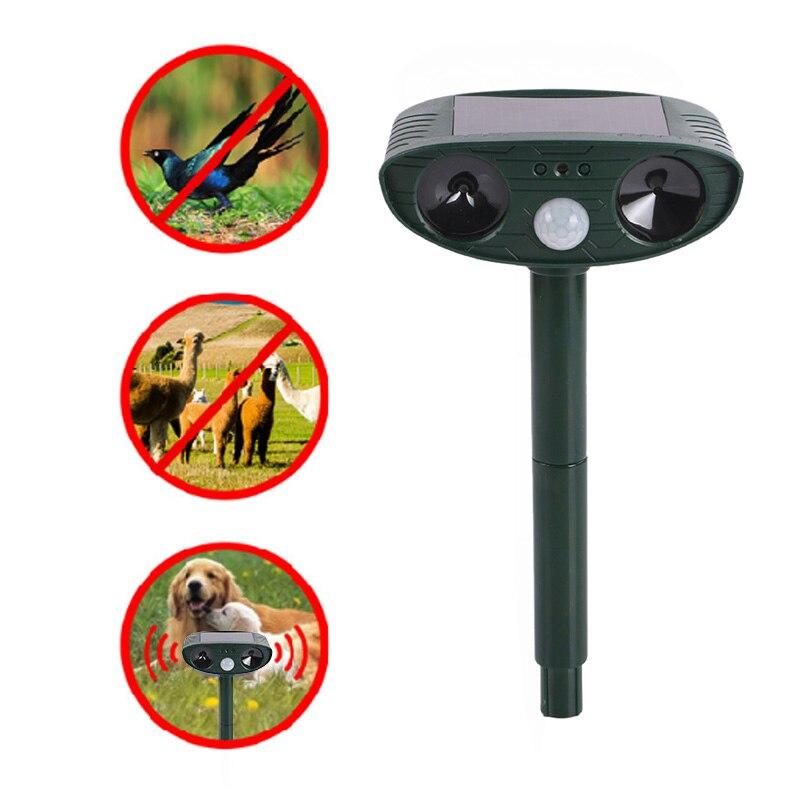 Solar Power Ultrasonic Signals Animal Repeller Outdoor Bird Mouse Dog Cat Expeller Ultra Sonic Repeller Frighten Animal Repeller