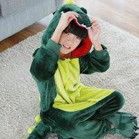Ragazze dei ragazzi Pigiama Dinosauro Animale Indumenti Da Notte Per Bambini Hulk Onesies Pigiami per Bambini Pigiama Manica Lunga Camicia Da Notte 2 Colori