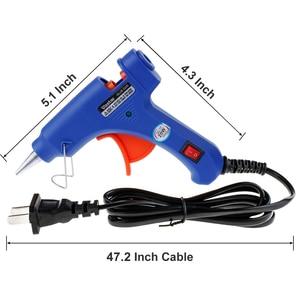Image 5 - 20W Hot Melt Glue Gun with 2Pcs/10 Pcs/30pcs 7mm*200mm Glue Stick Industrial Mini Guns Thermo Electric Heat Temperature Tool
