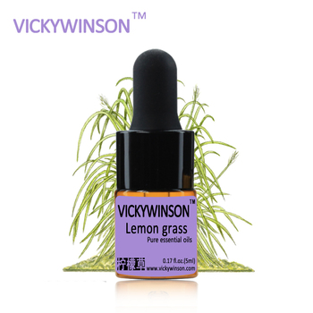 цена на VICKYWINSON Lemon grass essential oil 5ml natural aromatherapy oil Prevent Mosquito repellent Relax WD31