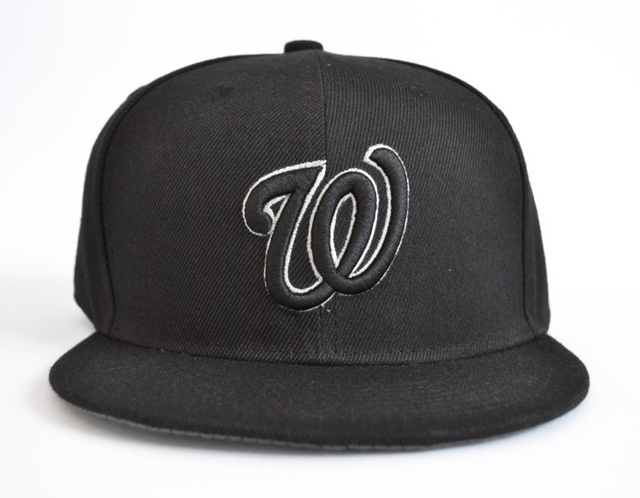 Washington Nationals baseball hat snapback snap bakcs adjustable adult head  round 56cm to 62cm black w 684c4f06c62
