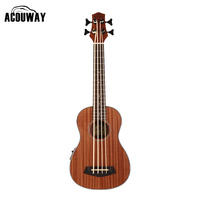 Wooden Electrica Guitar Musical Instruments 30 Inch Bass Guitars China Sapele Vintage Retro Closed Knob Ukulele