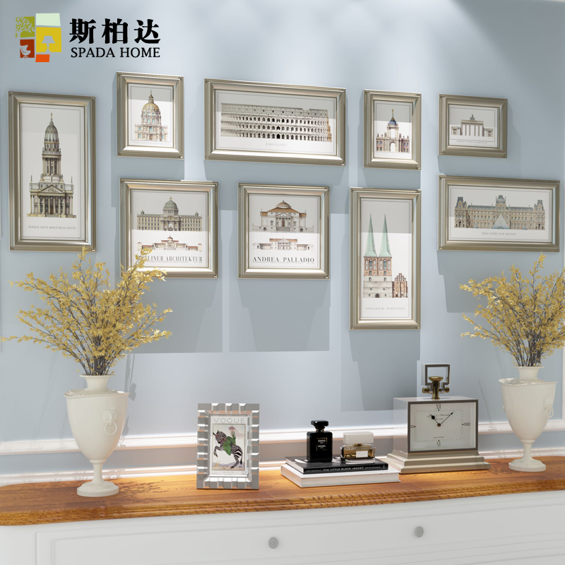 9pcs/set Multi Size Photo Frame,Picture Frames For Wall Decoration ...