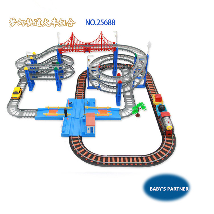 2016 New Hot Thomas railcar high-speed traffic line 4 trains kids toys car for children's best Christmas gift best gift on stock bill handley speed learning for kids