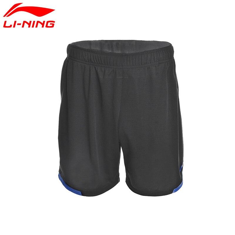 Li Ning Original Men Badminton Shorts ATDry Breathable Competition Bottom 100% Polyester LiNing Sports Shorts AAPM143